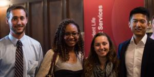 Graduating MA and PhD students had the opportunity to pick up their degrees in person during the Social Science's inaugural Summer Degree Celebration held at Ida Noyes Hall on August 25, 2017.