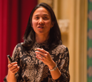 "Angela Duckworth, a Professor at the University of Pennsylvania and a MacArthur Fellow, spoke about ""grit"" at the Center's launch in November."