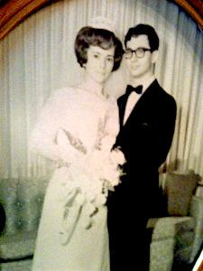 Mady and David were engaged May 16, 1966 and married December 25, 1966. According to David, every year people put up decorations for their anniversary!