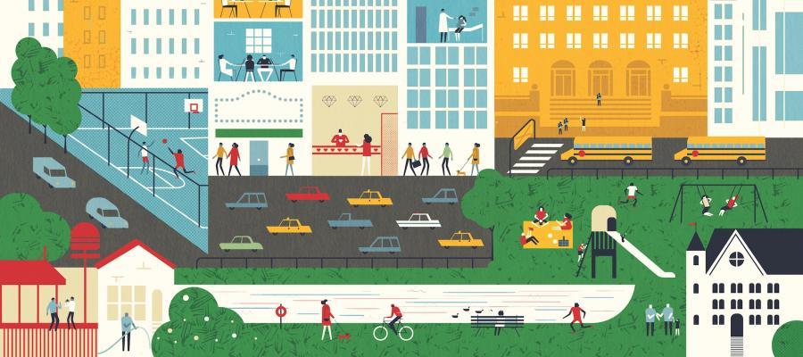 illustration of cityscape