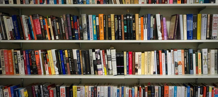 book shelf of division faculty publications