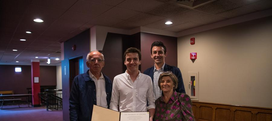 "Bogdan Popescu, PhD in Political Science, was joined by his family. His dissertation explored ""Empires in the Making: Legacies of the Ottoman and Habsburg Empires in Europe."""